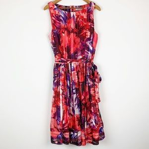 Luxe by Carmen Marc Valvo Sleeveless Dress Floral